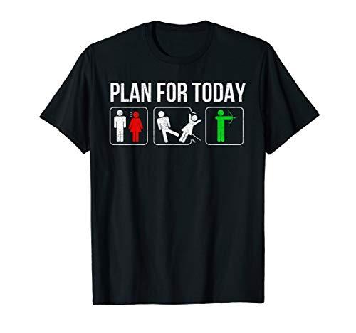 Bogenschiessen witziger Spruch Lustiges Bogenschützen T-Shirt