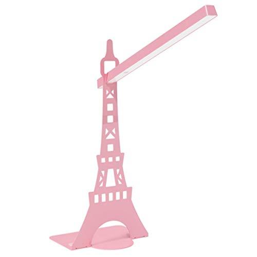 Ángulo ajustable París Torre Eiffel Protección ocular Lectura Led Lámpara de mesa #Pennytupu