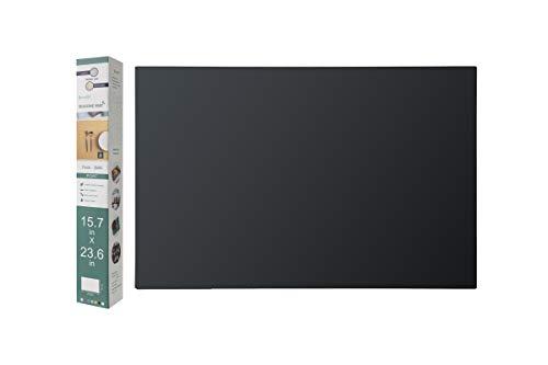 Alfombrillas de silicona de 2 mm para encimera de cocina, 15.7 x 23.6 pulgadas (negro)