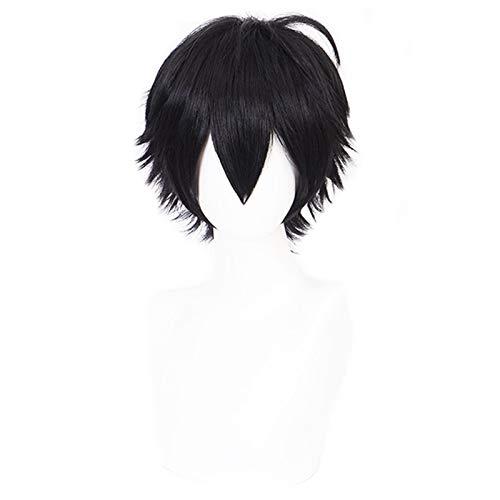 Divisin Rap batalla hipnosis MIC Yamada Saburo pelucas cortas negras Cosplay disfraz peluca de pelo sinttico resistente al calor