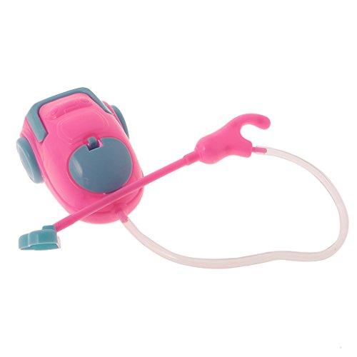 Puppenhaus Miniatur Staubsauger, Reinigung Werkzeug, Blau mit Pink , 1:6