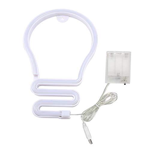 MagiDeal Globo neón Signo luz, Luces de neón LED lámpara de Mesa Luz de Noche, USB/Luces alimentadas por batería para niños habitación cumpleaños Fiesta - Colorido