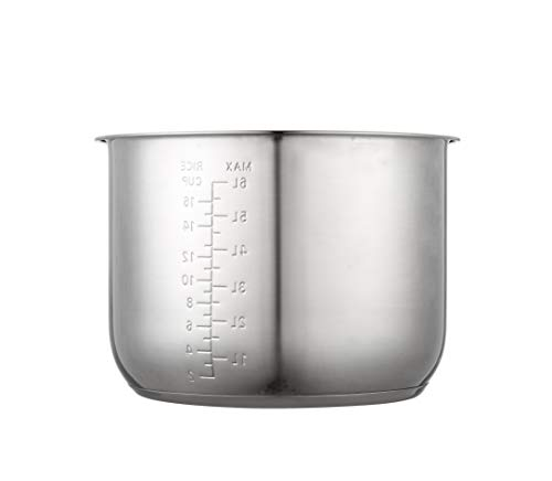 Original 8Qt Power Cooker XL Replacement Inner Pot Stainless Steel Compatible with 8 Quart Power Pressure Cooker Model PPC772 (or #PPC772), PPC780 (or #PPC780), and WAL3