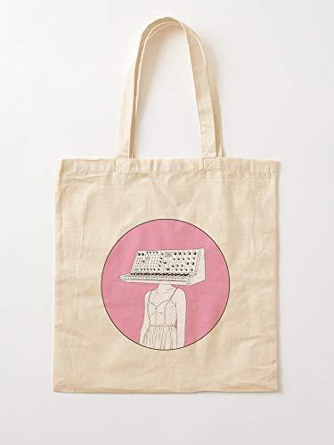 Electronic EMP Pink Girls EDM Synth Music Synthesizer - Bolsas de lona con asas, algodón duradero