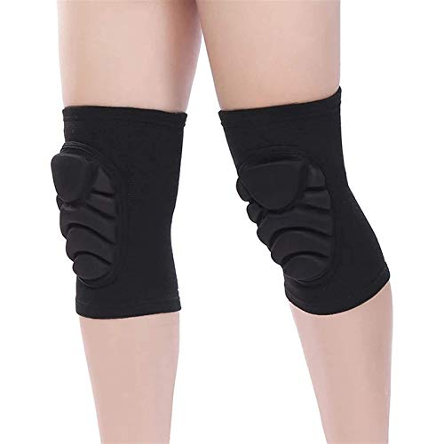 Professional Knee Brace Unisex Adult for Elastic Knee Pads for Rollerblading, ski,Skating, Biking, Cycling,Skateboard, Scooter, BMX etc(1 pair) Joint Pain Relief ( Color : Black , Size : Large )