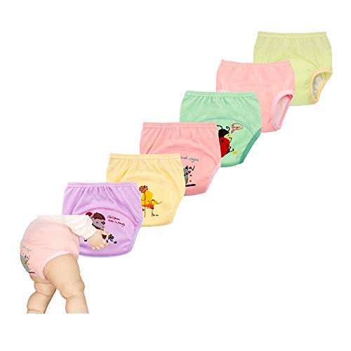 New Anti Leakage Training Pants for Babies, Toddler 6 Layers Potty Training Pants 6 Pack(90)