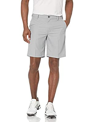 "IZOD Men's 9.5"" Straight Fit Swingflex Golf Short, Nickel, 35W by IZOD Men's Sportswear"
