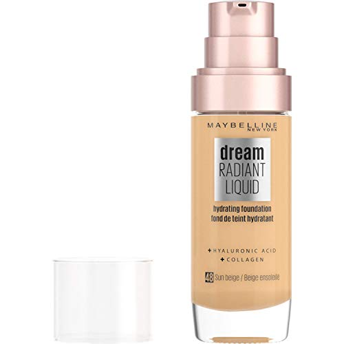Maybelline New York Fondotinta Dream Satin Liquid, Fondotinta Naturale Effetto Satinato, SPF18, 48 Sun Beige