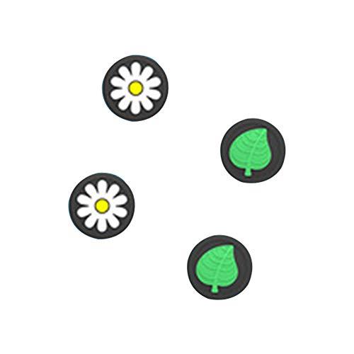 Banane NEU 2020 2 Paar Niedlicher Ersatz Silikon Analog Controller Joystick Daumenstiel Griffe Kappenabdeckung Für Switch/LITE Controller-Blätter (Grün + Chrysantheme)