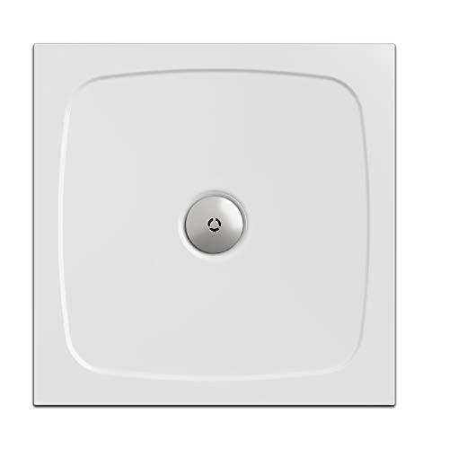 Nordona Duschwanne/Duschtasse SIMPLEX, quadratisch 90 x 90 cm | Extra-Flache Aufbau-Höhe: 3 cm | Kompatibel VersoFlat Ablauf