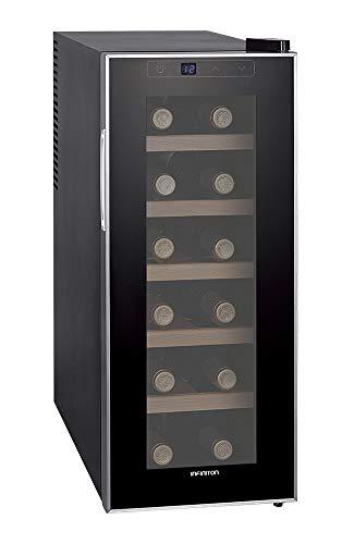 VINOTECA INFINITON WCL-12W (Capacidad hasta 12 Botellas, Estantes de Madera, Display LED, Puerta de Cristal, Nevera para vinos) 12 Botellas