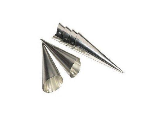 Ensemble de 10 moules métal 11cm à cornet Cônes de pâtissier cone patisserie