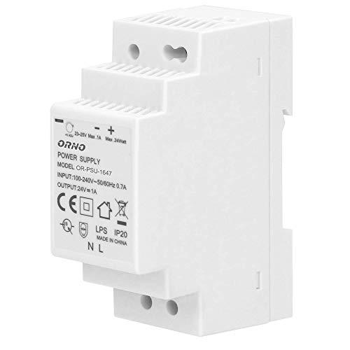 ORNO PSU-1647 Transformador para carril DIN 24VDC, 1A, 24W (2 módulos)