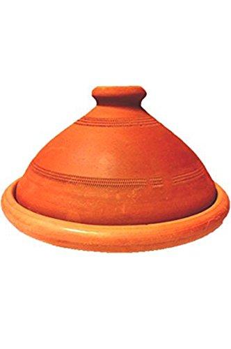 Tajine, original aus Marokko, Tontopf zum Kochen, Tuareg Ø 30cm, für 4-5 Personen, handgetöpfert aus Marrakesch, unglasiert, frei von Schadstoffe