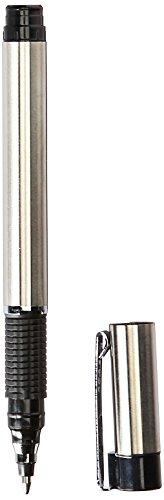 Zebra R-301 Stainless Steel Rollerball Pen, Fine Point, 0.7mm, Black Ink, 2-Count