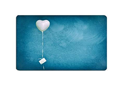 Frühstücksbrett Herz Hochzeitsluftballon Fotografie Brettchen aus Melamin, spülmaschinenfest, Schneidebrett 14 x 23 cm