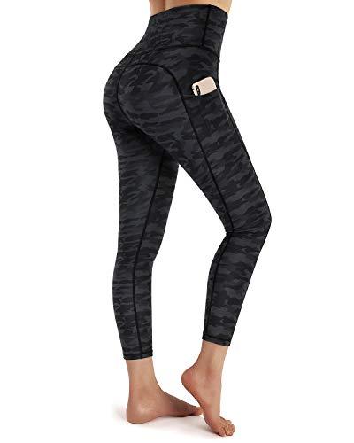OUGES Damen-Leggings mit hoher Taille und Taschen Gr. M, Camo H Capris-61 cm (24 Zoll)