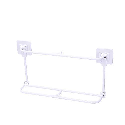 zhongbao Zapatillas, 1 estante simple para ahorrar espacio, plegable, para montar en la pared, estante de plástico para colgar en el hogar (color: 06)