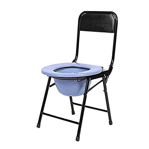 Joyfitness WC-Stuhl Für Senioren, WC-Sitz, Schwerlast-Toilettenstuhl Aus Stahl, Nachttisch-Toilettenstuhl Mit Klapparm Und Deckel Für Erwachsene Senioren Rutschfester Behinderten-WC-Stuhl