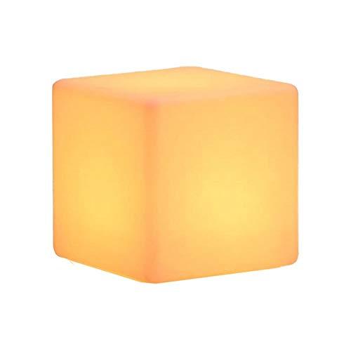 Lámpara de patio al aire libre Interior Noche Luz LED CUBE LED CUBO Decorativo Resplandor Muebles Impermeable Recargable 16 RGB Color Cambio Taburete con Control Remoto Color Creative Bar Color Colori