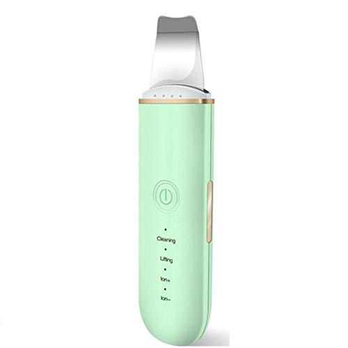 CYYMY Skin Scrubber Ultraschall Peeling Ultraschall Gesichtsreiniger, Porenreiniger Mitesserentferner Haut Scrubber Akne-Entferner Mitesser Entferner Ionen,Grün