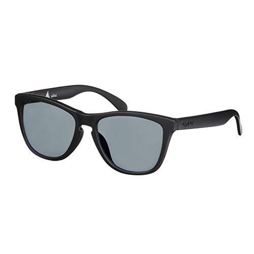 Nebelkind Sonnenbrille Suntastic Schwarz Matt Graue Gläser mit UV-Schutz Brillenetui Unisex One Size