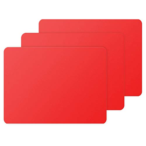 Gartful 3 PCS Silicone Sheet for Crafts, Arts, Resin Jewelry Casting Molds Pad, Multi-Purpose Placemat Table Saver Pad, Desk Counter Protector, Nonstick Waterproof Heat-Resistant, Red (15.7x11.8 inch)
