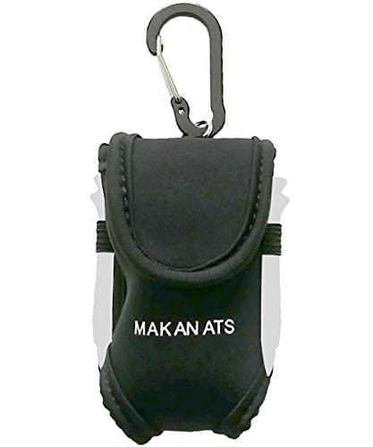 MAKANATS ゴルフボールケース 落下防止 高耐久 軽量 コンパクト ボール2個 ティー4本 収納可 (ブラック)