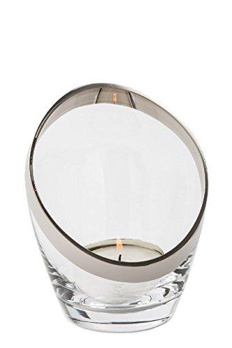 Fink Platinum/Teelicht,klarm.Platinum/H.15,D.7,5,B.12