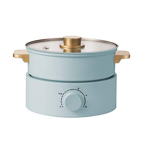 DYXYH Cuisinière électrique petit dortoir étudiant en pot multi-fonction bouillants et Frying Une maison Séparation type Petit Hot Pot Mini