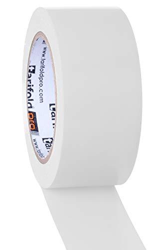 Tarifold 1 Cinta para Suelo, adhesiva Señalización, Seguridad, color Blanco-Rollo 50mm x 33m, 50 mm x 33 M