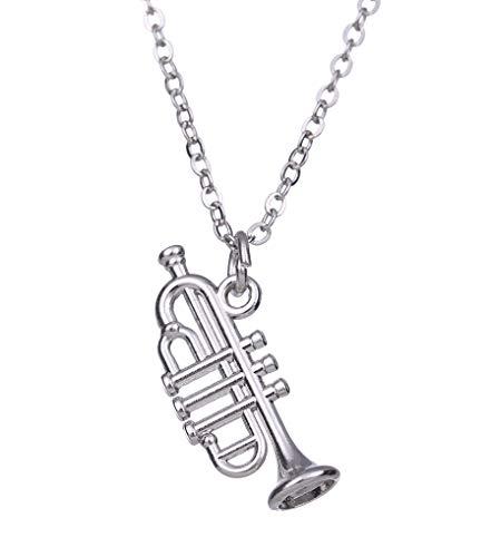 cooltime Kleine Trompeten-Anhänger Y-Link Halskette für Mädchen Jungen