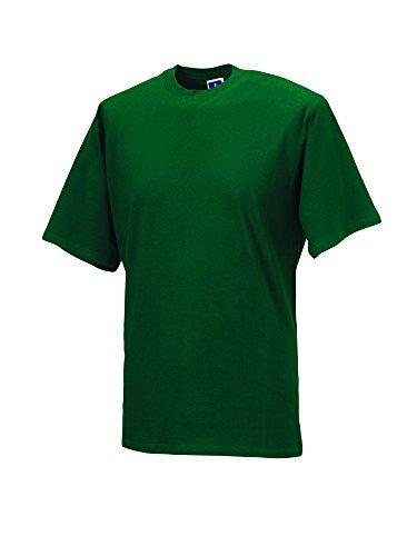 Jerzees T-Shirt, klassisch, Baumwolle Gr. XXXX-Large, flaschengrün