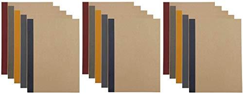 MUJI Árbol plantado libro de notas de papel (difícil de sangrar) 15 juego B5 · 90 hojas · Papel rayado de 6 mm, 5 colores de Japón 76316145