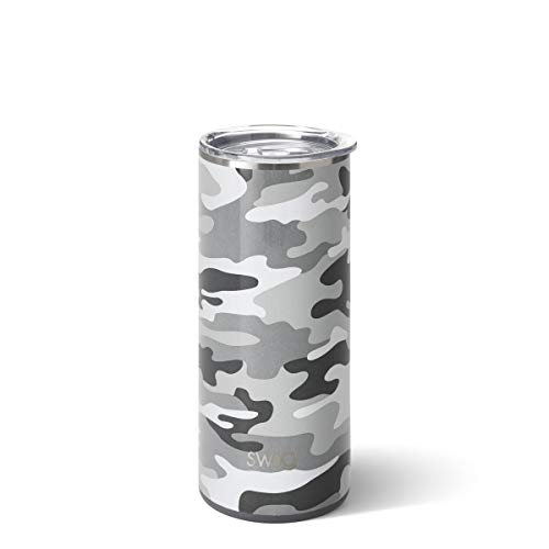 Swig Life 20oz Triple Insulated Stainless Steel Tumbler with Spill-Resistant Lid, Dishwasher Safe, Double Wall, and Vacuum Sealed Coffee Tumbler in Incognito Camo Print (Multiple Patterns)