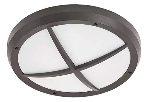 RABALUX Außendeckenleuchte Alvorada, Kunststoff, E27, anthrazit, 30 x 30 x 10 cm