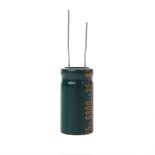 Yintiod 25V 6800uF Kapazität Elektrolytischer Radialkondensator Hochfrequenz Niedriger ESR