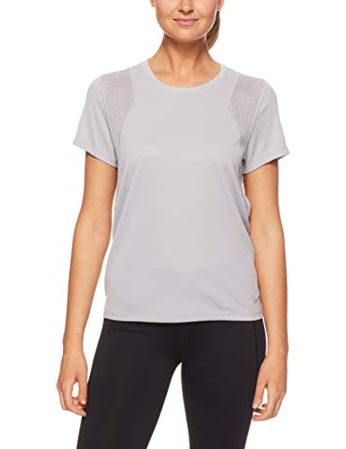 NIKE W Nk Run Top SS T-Shirt, Mujer, Atmosphere Grey/