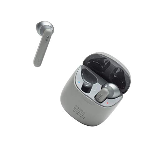 JBL TUNE 225TWS – Écouteurs intra-auriculaires véritablement sans fil – Bluetooth – Autonomie jusqu'à 25 heures – Étui de recharge pratique et élégant – Couleur : gris