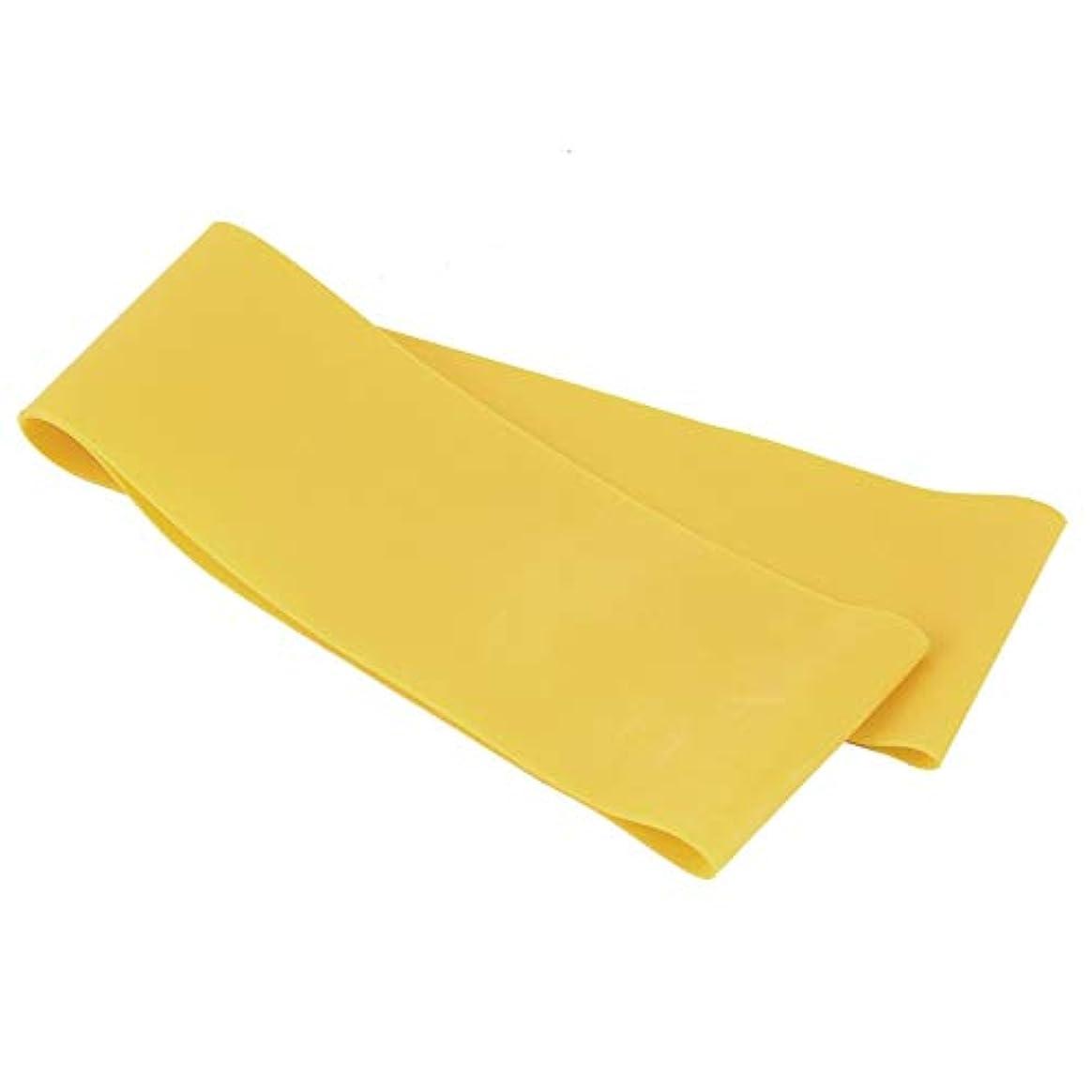 補助金完全に冷酷な滑り止めの伸縮性のあるゴム製伸縮性があるヨガのベルトバンド引きロープの張力抵抗バンドループ強さのためのフィットネスヨガツール - 黄色
