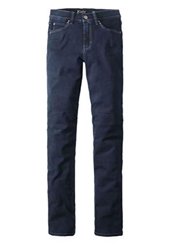 Paddocks - Damen Regular Fit Jeans Hose im 5 Pocket Style mit Reißverschluss, geradem Bein und hoher Bundhöhe, Kate (P603345754000), Größe:W38/L30, Farbe:Blue Black Used(5700)