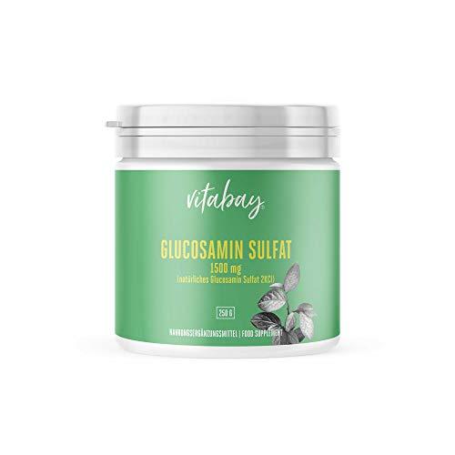 Glucosamin Sulfat 2KCI 1500mg - Pulver 250g hochdosiert - schützt Knorpelsubstanz und Gelenke