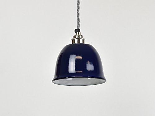 True Blue Bell Cup Abat-jour industriel en émail Style entrepôt