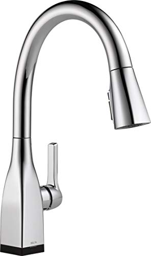 Delta Faucet Mateo VoiceIQ Single-Handle Touch Kitchen Sink Faucet with Pull Down Sprayer, Alexa and Google Assistant Voice Activated, Smart Home, Chrome