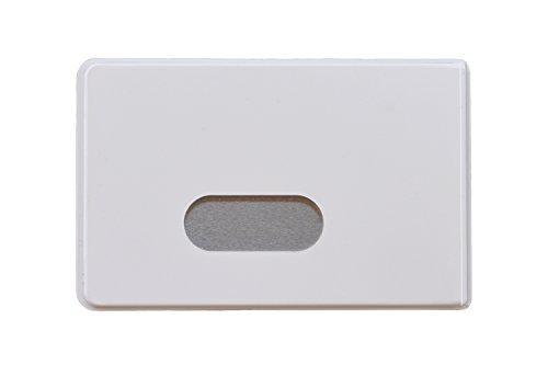 OPTEXX® RFID Schutzhüllen 3X Fred Weiß für Kreditkarte | EC-Karte | RFID Blocker | Personal-Ausweis Hülle | Kartenhülle hartplastik | Blocking von Funk Chips