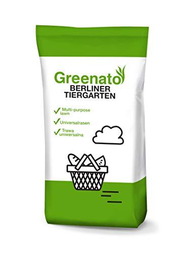 Rasensamen Greenato Berliner Tiergarten 5kg Zierrasen Rasen Grassamen Rasensaat Gras - Packungseinheit wählbar von 1-30kg