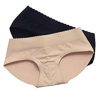 Nm Padding Panties Push up Panties Fake Seemless Padding Briefs Silicone Hip padship Padded Pantie Butt Pads Beige S