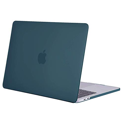 MOSISO MacBook Pro 13 inch Case 2019 2018 2017 2016 Release A2159 A1989 A1706 A1708, Plastic Hard Shell Cover Compatible with MacBook Pro 13 with/without Touch Bar and Touch ID, Deep Teal