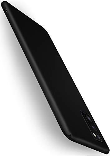 moex Alpha Case für Samsung Galaxy A41 Hülle Stoßfest und Leicht Handyhülle Extra Dünn, Super Slim Schutzhülle Ultra Air Hybrid PC Hardcase aus Kunststoff - Matt Schwarz