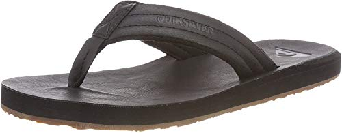 Quiksilver Herren Carver Nubuck-Sandals for Men Zehentrenner, Schwarz (Solid Black Sbkm), 46 EU